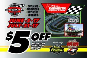 Kawartha Speedway Coupon 2017