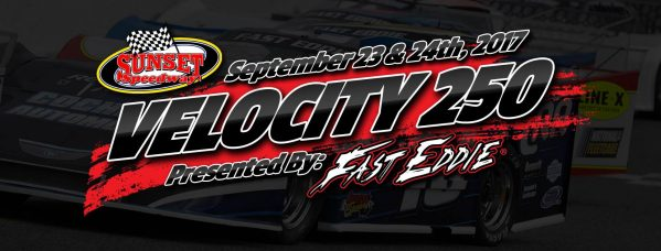Sunset Speedway Velocity Sept., 23rd & 24th/2017