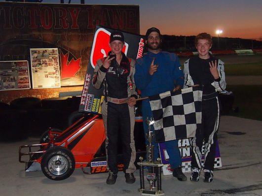 OSCAAR Pro Sprint Top 3 at Flamboro Speedway