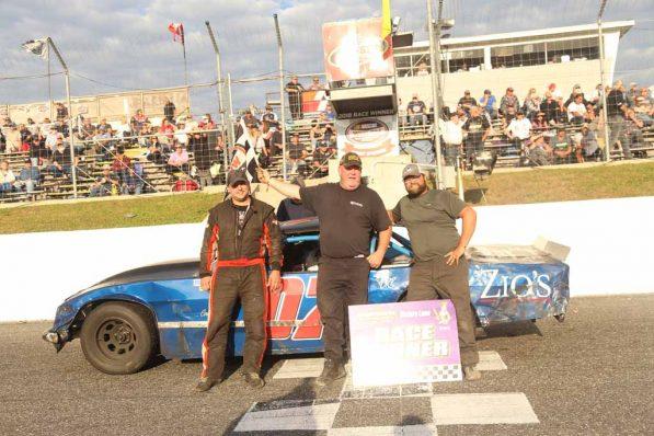 OSCAAR Hot Rod Top Three at Sunset Speedway